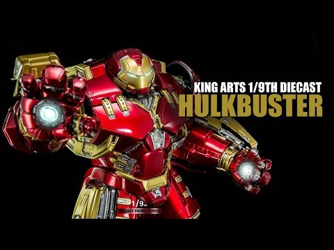 King Arts 1/9th scale Marvel Age of Ultron Diecast Hulkbuster figure review