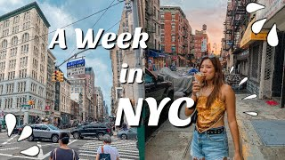 A week in my life: NYC edition 🌃🌟