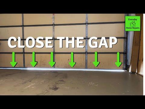 How To Fix Garage Door Gap | Travel Adjustment