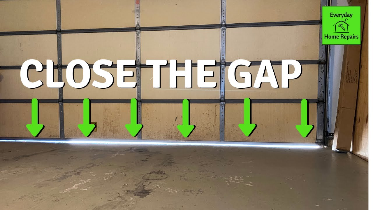 How To Fix Garage Door Gap Travel Adjustment Youtube