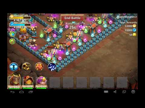 Castle Clash : Insane Dungeon 2-1 ❚ 3 Heroes ❚ 3 Flames
