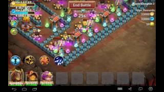 castle clash insane dungeon 2 1 3 heroes only 3 flames f2p