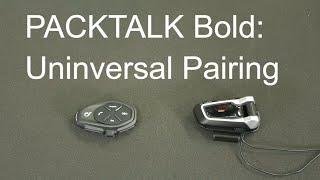 PACKTALK Bold: Universal Pairing