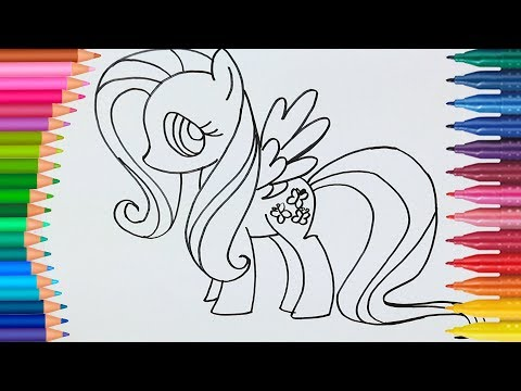 Renkleri Öğreniyorum l MLP ve Doc Mcstuffins Nasıl Çizilir ve Boyanır - Fluttershy Boyama Sayfaları