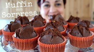 MUFFIN AL CIOCCOLATO CON SORPRESA Ricetta Facile - Chocolate Muffin Easy Recipe