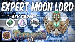Terraria 1.3 Expert Mode AFK Moon Lord Farm (1.3 new bosses)