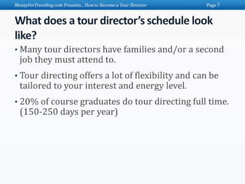 Ted Bravos - Tips for Professional Tour Director