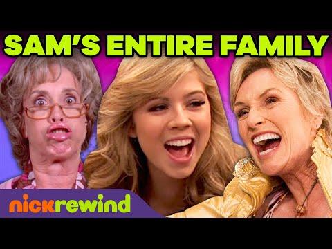Every Sam Puckett Family Ever! 🧈👩👧 | iCarly