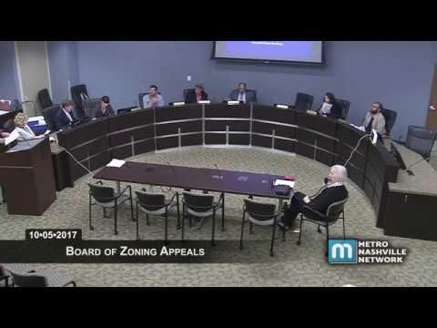 10/05/17 Board of Zoning Appeals