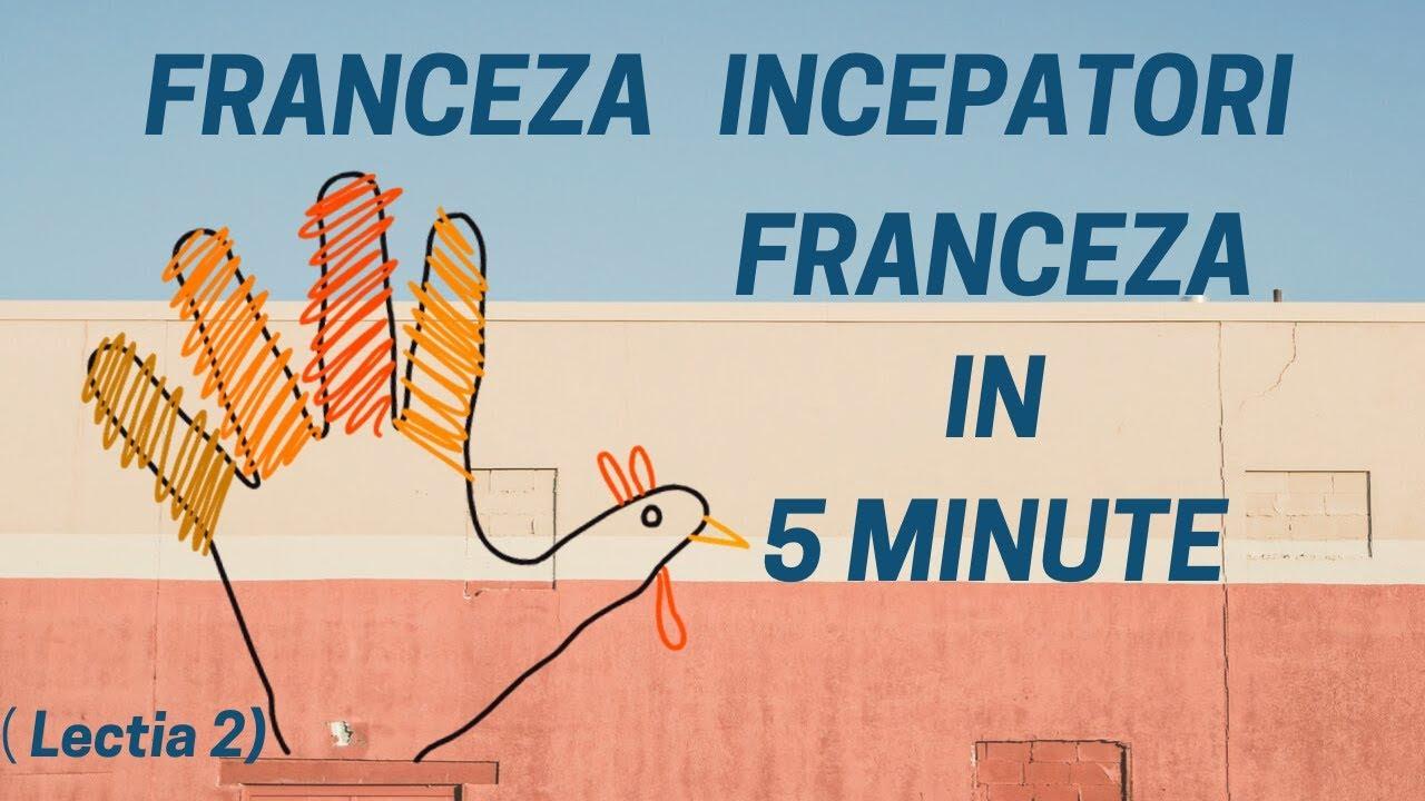Franceza in 5 minute - Curs franceza incepatori online  (2019) - Lectia 2