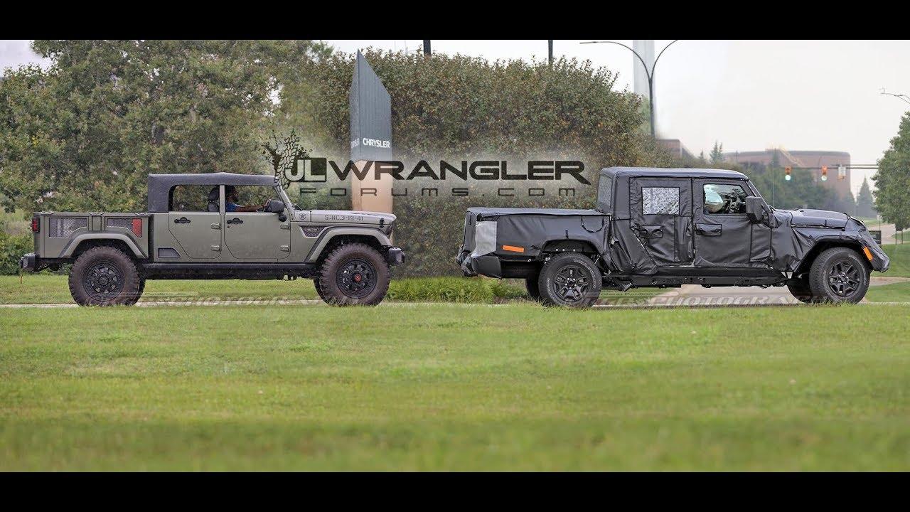 2019 Jeep Scrambler Pickup (JT) (Wrangler Based) Spied ...