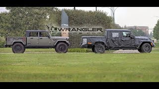 2019 Jeep Scrambler Pickup (JT) (Wrangler Based) Spied Testing With Crew Chief!