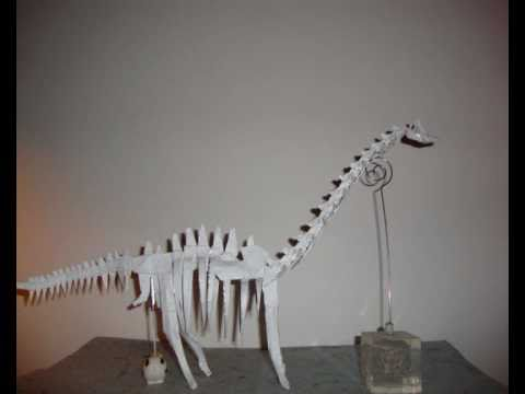 Origami Dinosaur Skeleton Brachiosaurus By Fumiaki Kawahata