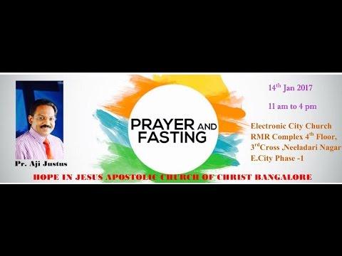 14-01-2017 PRAYER AND FASTING