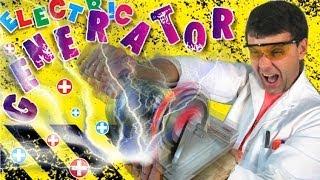 видео Педальный электрогенератор большой мощности