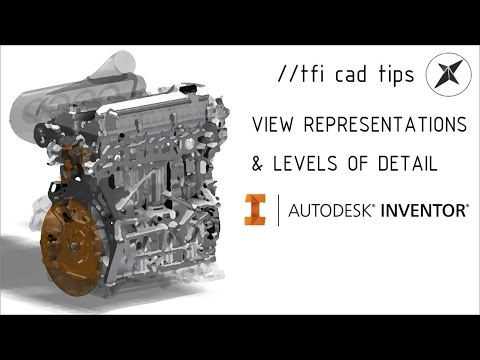 Assembly representations (Level of detail & View Reps) | Autodesk Inventor