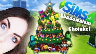 ZBUDOWAŁAM CHOINKĘ W THE SIMS 4!  | Christmas Tree Speed Build