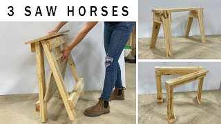 3 Awesome DIY Saw Horses