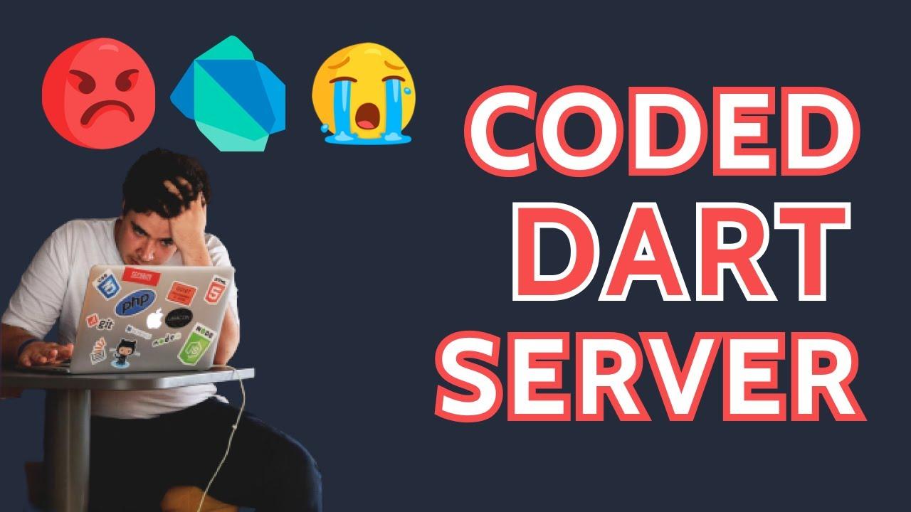 Coding Dart Server Side. But Why no Framework ?🤔