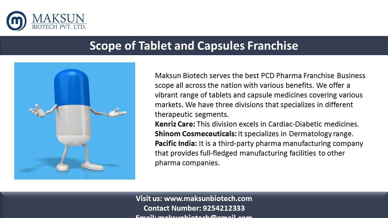 PCD Pharma Franchise for Pharmaceutical Tablets & Capsules Range