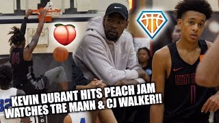 KEVIN DURANT WATCHES TRE MANN GO OFF at Nike Peach Jam!!   + CJ Walker's STOCK IS SOARING