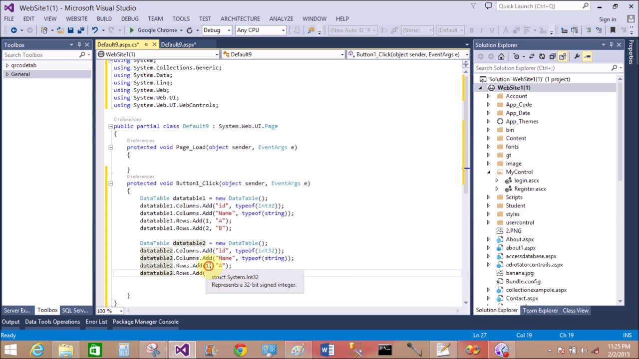 How to merge two dataTable also bind gridview in ASP NET