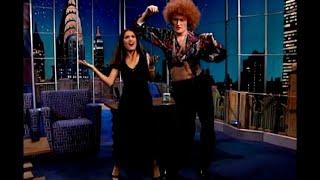 Salma Hayek Teaches Conan Disco Dance Moves | Late Night with Conan O'Brien