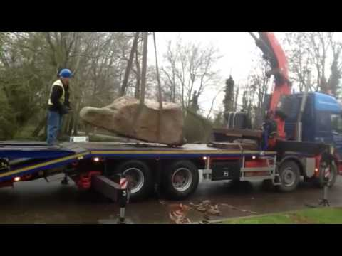 HAMS transport,moving Saracen stone to basset down golf cou