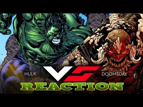 HULK VS DOOMSDAY | DEATH BATTLE! MARVEL VS DC [REACTION ... Doomsday Vs Hulk Death Battle Reaction