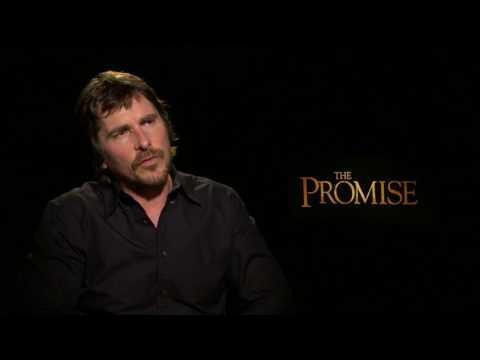 Christian Bale on Fake News Donald Trump & The Promise Interview