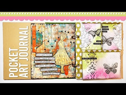 Art Journaling with Scrapbook Supplies | Pocket Art Journal