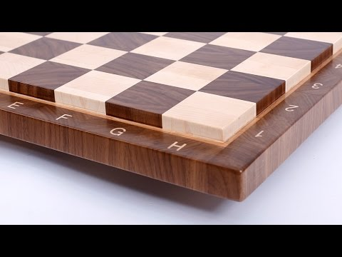 Making an end grain chessboard