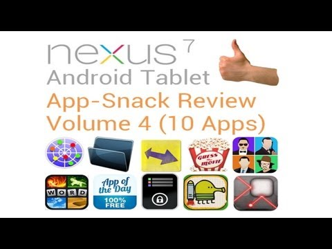 Tablet Android Apps: Volume 4 (10 Apps) Nexus 7
