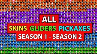 *ALL* SKINS, EMOTES, GLIDERS, PICKAXES in Fortnite Battle Royale! (SEASON 1 - 9) *SHOWCASE*