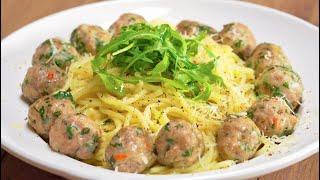 Спагетти с итальянскими фрикадельками и рукколой. Итальянская кухня. Рецепт от Всегда Вкусно!