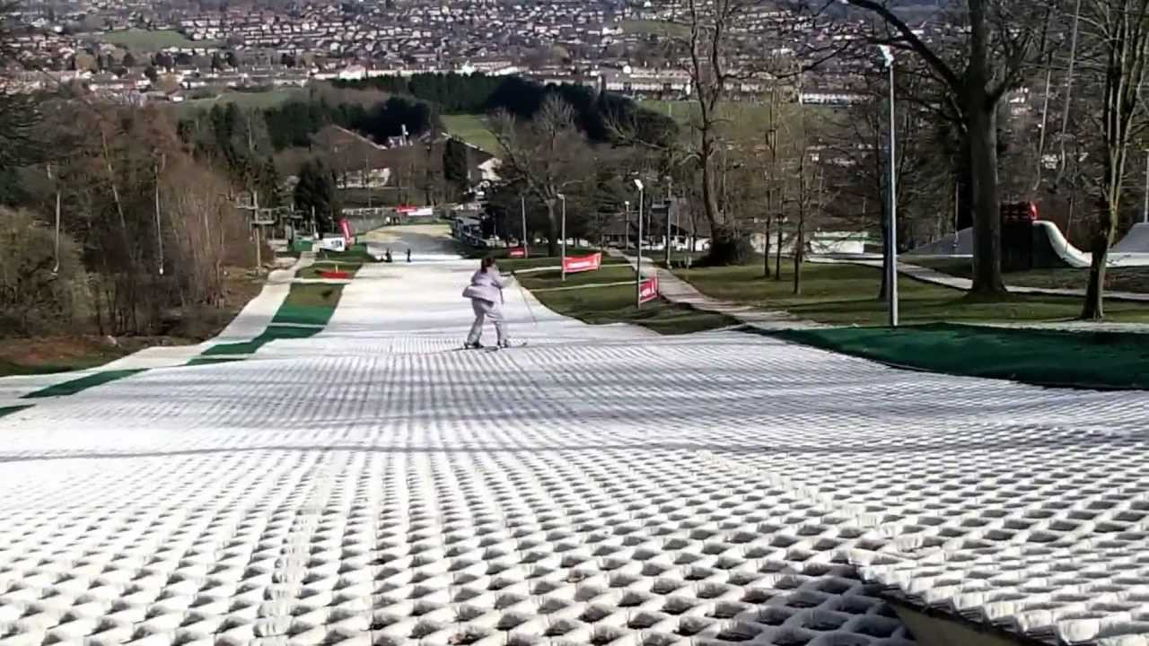 Dry Skiing Down The Ramp At Gloucester Ski Amp Snowboard