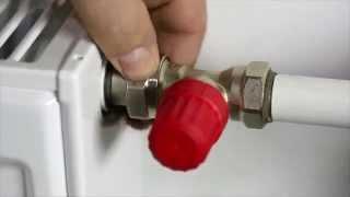 монтаж радиатора с использованием комплектующих Danfoss