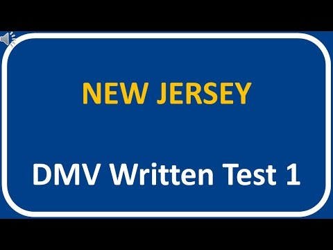 New Jersey DMV Written Test 1
