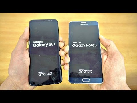Samsung Galaxy S8 Plus vs Galaxy Note 5 - Speed Test! (4K)