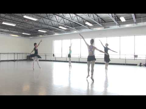 """Artists of Colorado Ballet rehearse Crystals from Snow Scene of """"The Nutcracker"""""""