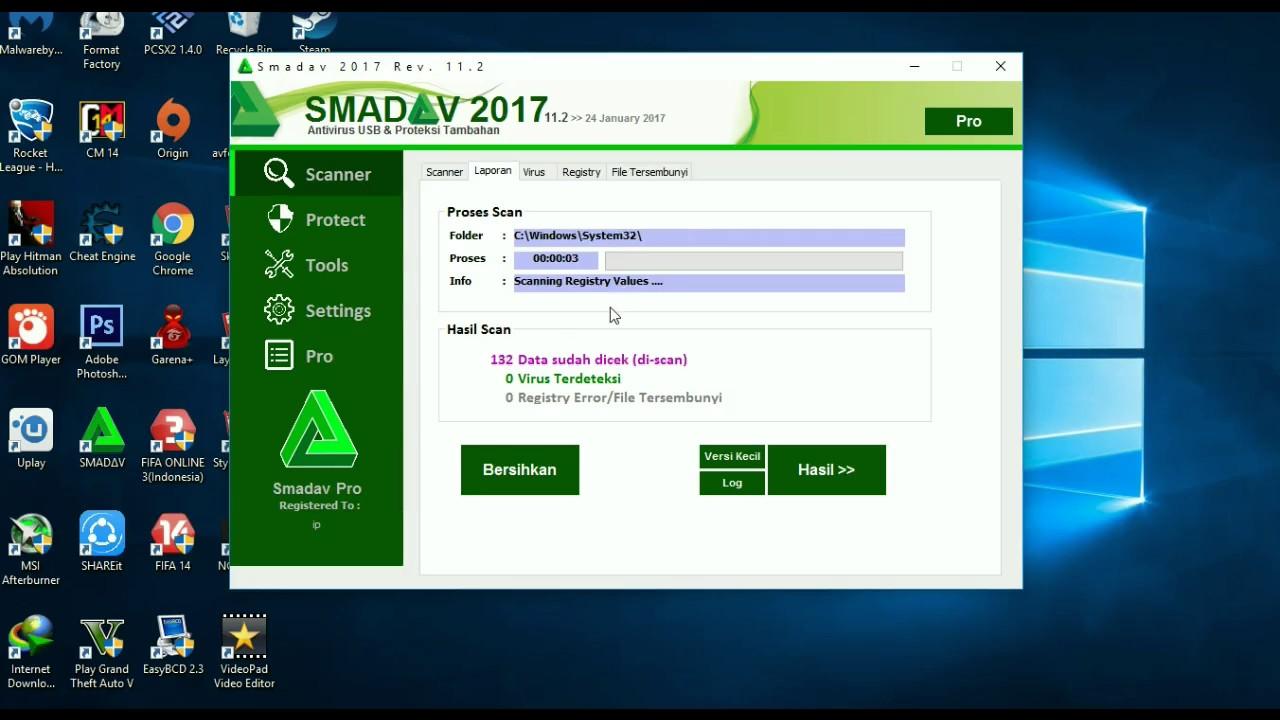 Cara Membersihkan Laptop Pc Dari Virus Menggunakan Smadav 100 Berhasil Youtube