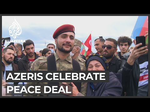 Nagorno-Karabakh agreement: Azeris celebrate after peace deal