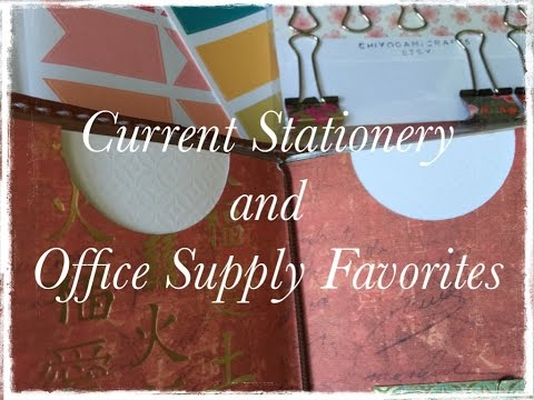 Current Stationery and Office Supply Favorites