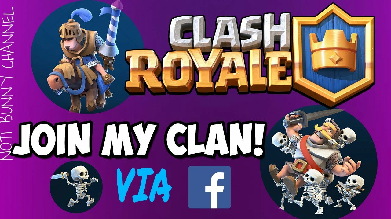 Clash Royale TIPS INVITE YOUR FB FRIENDS IF THEY HAVE NO CLAN