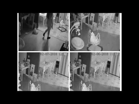 Real ghost on surveillance camera 2018 authentic