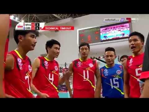 Myanmar vs China   Asian Men