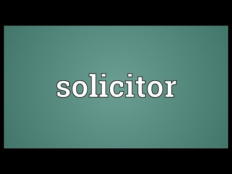 Solicitor Meaning