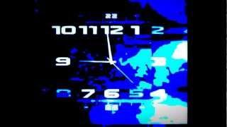 Часы в стиле первый канал. Multiple animations (Вечер)