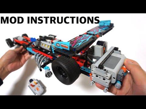 Lego Technic 42050 Rc Mod Instructions B Model By Youtube