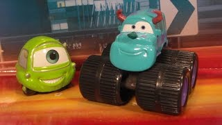 MIKE & SULLEY, 2007 SUPERCHARED Mattel Cars Disney Pixar Monsters Inc. Diecast Unboxing Review!